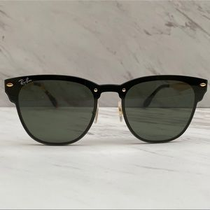 😎 Ray-Ban Blaze Clubmaster Gold Black RB3576N
